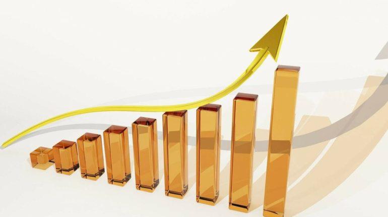 Gráfico indicando resultados crescentes de retorno financeiro